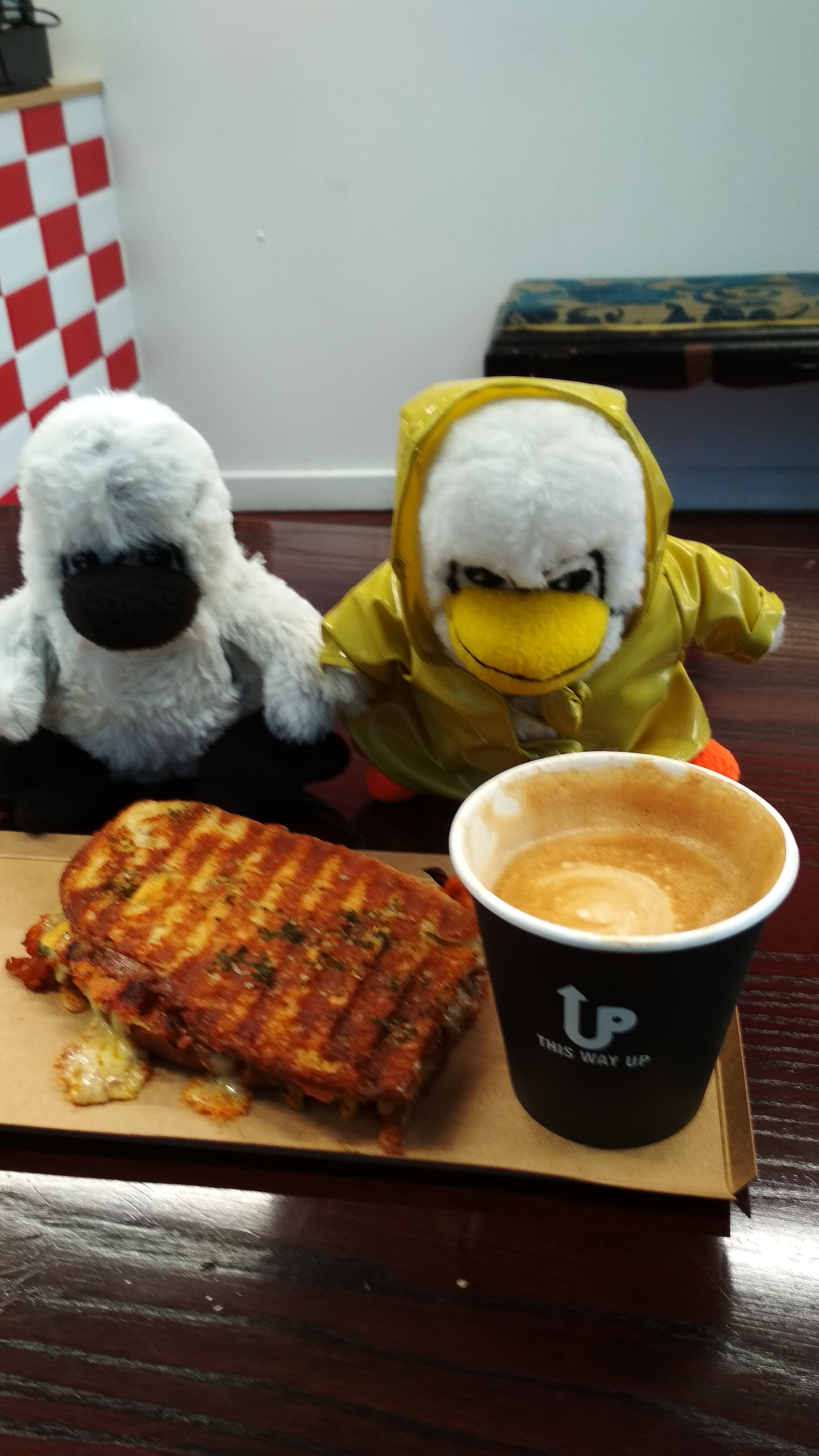 Toastie from Hungry Hobos and Coffee from Sabayon